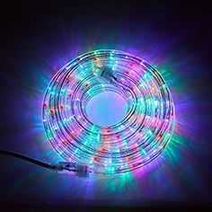 24 Ft Plugin Rope Lights 287 Multicolor LEDs Connectable Dimmable Waterproof IndoorOutdoor Use Ideal for Backyards Weddings and Christmas Decor