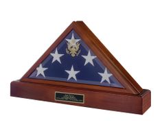 Urns Northwest  - Vice Presidential Military Flag Case, $278.00 (http://urnsnw.com/vice-presidential-military-flag-case/). Solid walnut wood, made in the USA. Pictured with optional cremation urn base.
