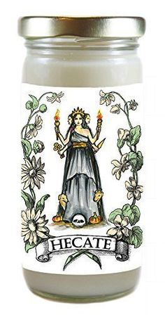 Guided By Goddess Hecate Gift of Magic 8 Ounce Scented Soy Meditation Prayer Candle