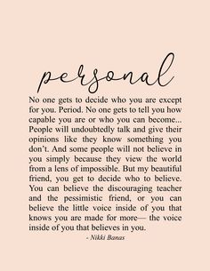 It's Personal Quote & Poetry Print – Nikki Banas, Walk the Earth, Inspiring & encouraging quotes Source by WalkTheEarthWriter and beauty quotes words Encouragement Quotes, Wisdom Quotes, True Quotes, Words Quotes, Wise Words, Motivational Quotes, Inspirational Quotes, Sayings, Qoutes