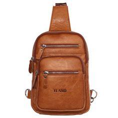 e6719d320f4d New Genuine Leather Men Crossbody Pack Single Shoulder Messenger Bag  Vintage Natural Skin Cowhide Fashion Male Chest Back Pack