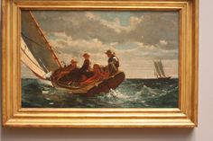 Breezing Up (A Fair Wind) by Winslow Homer.  National Art Gallery, West.  07/2011.
