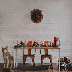 taxidermy inspired tablescape