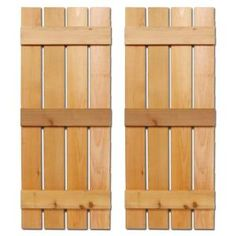 Design Craft MIllworks 12 in. x 75 in. Natural Cedar Baton Spaced Shutters Pair-420171 at The Home Depot