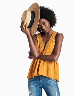 Lucky Brand--Structured Boater Hat $50 Boater Hat, Comfortable Outfits, Lucky Brand, Denim Jeans, Tees, Jackets, Clothes, Shopping, Women