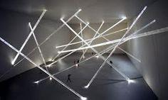 stringy lights installation