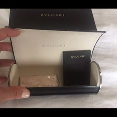 New BLVGARI sunglasses case w box, papers& cloth Brand new BLVGARI black, large sunglasses case. Black w silver accents. Comes w box, papers and new cloth. Open to offers. Blvgari Accessories Sunglasses