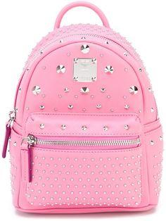 c0f5873107 MCM 'Stark' Studded Backpack - Farfetch. Borsa ZainoZaino Con BorchiePelle  ...