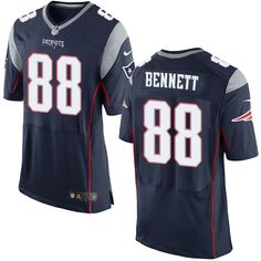 Nike New England Patriots Men's #88 Martellus Bennett Elite Navy Blue Home NFL Jersey