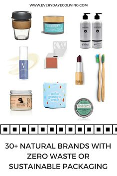 Are you ready to do something better for your health and the environment? Check out this mega list of natural brands that offer products in sustainable packaging. The list keeps on growing!