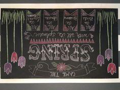 Spring chalkboard.