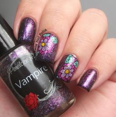 The Clockwise Nail Polish: Penélope Luz Vampire & Stamping Decal Nail Art