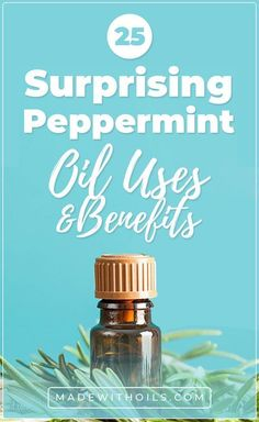 Peppermint essential oil is very popular, and for good reason. It has many uses and benefits - it's good for muscle strain, nausea and can also be used in beauty recipes and for cleaning. Essential Oils Uses Chart, Essential Oils For Pain, Essential Oil Set, Geranium Essential Oil, Clear Skin Tips, Best Oils, Oil Uses, Beauty Recipe, Diffuser Blends