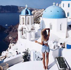 Match the white and blue city (Santorini, Greece). Travel Around The World, Around The Worlds, Places To Travel, Places To Go, Travel Destinations, I Want To Travel, Santorini Greece, Santorini Travel, Travel Goals