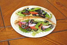 Veggie Pita Pocket Sandwich. Easy to make! Click for full recipe. Repin.