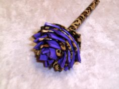 Purple & Cheetah Duct Tape Flower Pen by FlowerPensAndMore on Etsy, $6.99