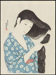 Hashiguchi_Goyo-Woman_Combing_Her_Hair-010609-07-16-2010-10609-x2000.jpg (1498×2000)