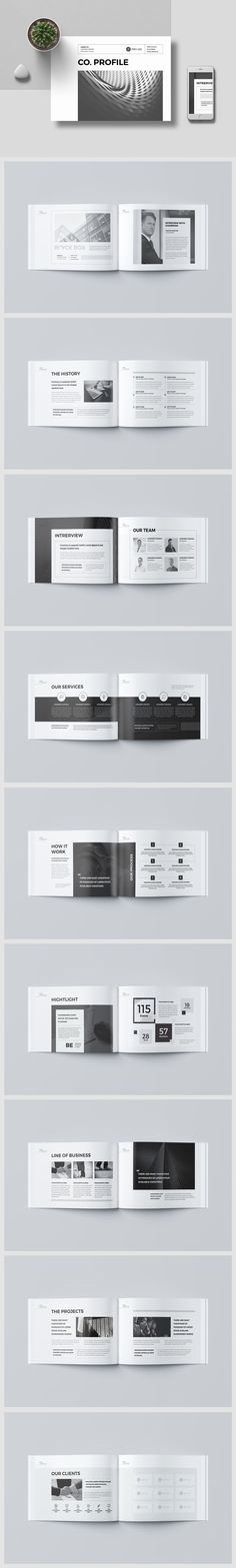 Company Profile Brochure Template InDesign INDD - 20 Pages