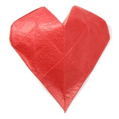 Learn to make and origami heart easily. Nice place to learn unique origami models using paper. 3d Origami Heart, Origami Mouse, Kids Origami, Origami Fish, How To Make Origami, Origami Folding, Origami Stars, Origami Paper, Origami Box