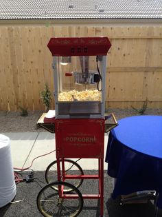 Cute popcorn machine perfect for parties! Available for rent at It's Your Party