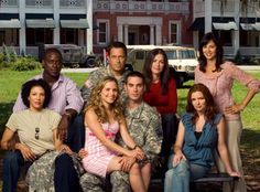 Sterling K. Brown (Dr. Roland Burton) , Wendy Davis (COL Joan Burton) , Brian McNamara (Lieutenant General Michael James Holden) , Kim Delaney (Claudia Joy Holden) , Sally Pressman (Roxy LeBlanc) , Drew Fuller (1st Lieutenant Trevor LeBlanc) , Catherine Bell (Denise Sherwood) , & Brigid Brannagh (Pamela Moran) - Army Wives