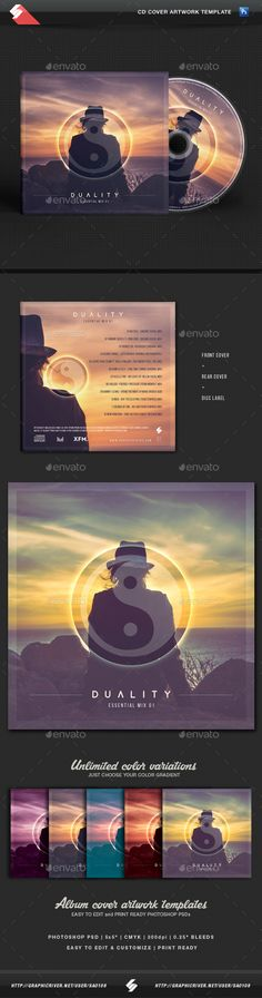 5 Premium Psd Cd Cover Templates• Only Available Here ➝ Http