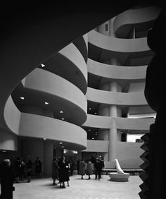 Frank Lloyd Wright's Guggenheim Museum (1959), New York City. By Ezra Stoller.