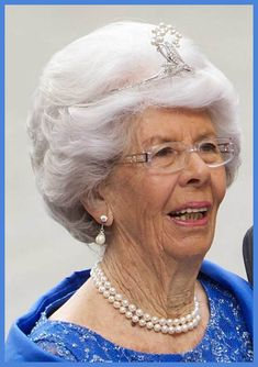 Countess Gunilla Bernadotte of Sweden, wearing the tiara seen in the previous pin, in 2010 at Crown Princess Victoria's wedding