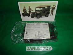 Young Model Builders Club U.S. Army Jeep and Motorcycle Model Kit New #6945 find me at www.dandeepop.com