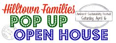 Stop by our first ever Pop-Up Open House taking place during the Amherst Sustainability Festival this Saturday, April 16 from 10am-4pm.  Come meet some of our board members, staff and volunteers an…