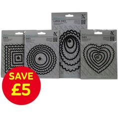 Xcut Nesting Scalloped Shapes Die 4 Pack Bundle With 20 Dies | Hobbycraft