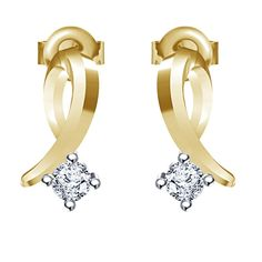 Ravishing Solitaire Earrings with round cut CZ