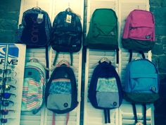 Rucksacks galore from Animal and Billabong. How can you say no? Rucksacks are an essential! The top left Animal bag even comes with a waterbottle, it doesn't get much better than that!