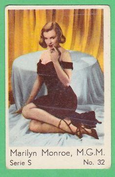 Marilyn Monroe, MGM - original vintage collectable film card #S32, Sweden, 1960's.