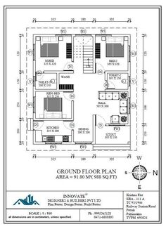 1 Bhk Floor Plan For 20 X 40 Feet Plot 801 Square Feet To Build