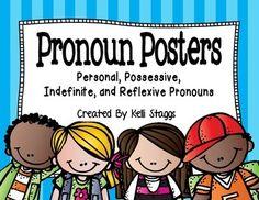 FREE Personal, Possessive, Indefinite, and Reflexive Pronoun Posters