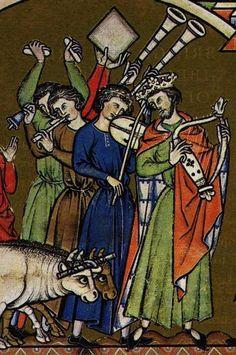 MS M. Louis Bible Date Paris, France, ca. Renaissance Music, Medieval Music, Medieval World, Medieval Art, Middle Ages History, High Middle Ages, Medieval Manuscript, Illuminated Manuscript, Medieval Paintings