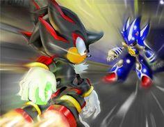 Shadow vs. Metal Sonic   ha voila quellque chose d interessant d shadow vs metal sonic w on ...