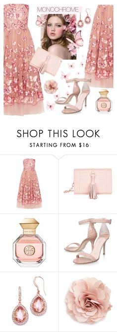 """fafella"" by paperdolldesigner ❤ liked on Polyvore featuring Notte by Marchesa, Nancy Gonzalez, Tory Burch and Cara"