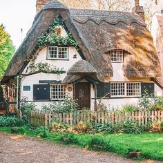 One of my favourite villages in England, this fairytale cottage is located in Houghton, Cambridgeshire Style Cottage, Cottage In The Woods, Cozy Cottage, Cottage Homes, Tudor Style House, Tudor Cottage, English Cottage Style, Irish Cottage, Cottage Art