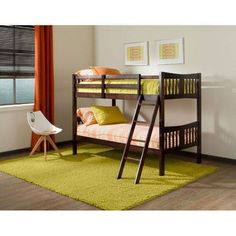 Twin Bunk Beds Over Twin Hardwood Frame Ladder Kids Room Espresso Kit For Sale: $232.51End Date: Jan-13 04:33Buy It Now for… #eBay #Amazon