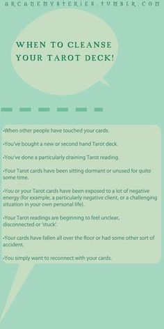 When to cleanse your tarot deck  #CroweFeatherWitchDownunder