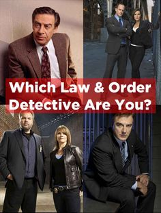 "Which ""Law And Order"" Detective Are You? I got Olivia Benson!"