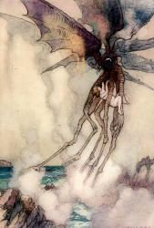 Warwick Goble - 'Found himself tight in the legs of the most wonderful body which he had ever seen' from ''The Water-babies, a fairy tale for a Land-baby''