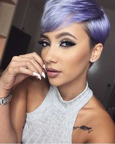 If you've ever doubted the versatility of a pixie cut, check out these 30 Pixie Cut Styles. A lot of celebrities took her lob to a pixie earlier this summer. Pixie Cuts, Short Hair Cuts, Short Hair Styles, Pixie Styles, Ombré Hair, Hair Dos, Hair Weft, Pixie Hairstyles, Pretty Hairstyles