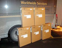 UPS Ground picks up HTS Systems orders. Shipping cartons designed by Danaken Designs of Scranton, PA.