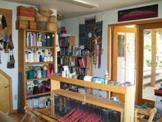 A wonderful weaver's studio space.
