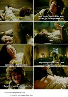 """""""I said I was gonna punish you"""" - Claire and Jamie #Outlander"""