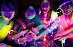 Color Fun Fest Run- same thing as the color run, except the run is at night & the color powder thrown at you is neon