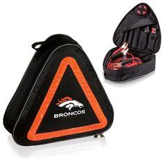 awesome Denver Broncos Digital Print Roadside Emergency Kit Black